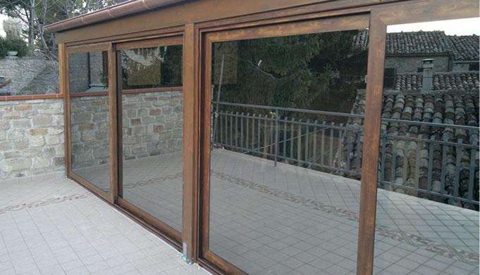 Veranda in alluminio anodizzato profilati alluminio - Finestre alluminio anodizzato ...